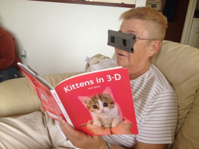This grandma takes being a cat lady to a whole new dimension.