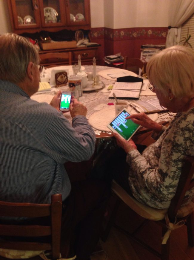 There's just something about grandparents and their solitaire.