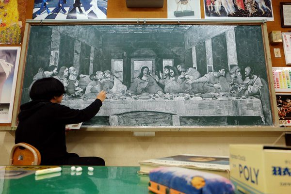 Whether it's an original piece or a reproduction of a famous work, this teacher is down to draw anything.