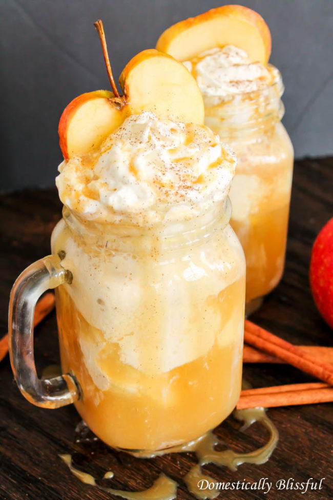 "<a href=""http://domesticallyblissful.com/apple-cider-floats/"" target=""_blank"">Apple cider floats</a> are destined to be my new go-to drink."