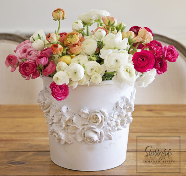 """Those old buckets that are collecting dust in your garage could be used to make one-of-a-kind <a href=""""http://www.shabbyfufublog.com/2015/03/florist-bucket-transformationtrash-to.html"""" target=""""_blank"""">vases</a>."""