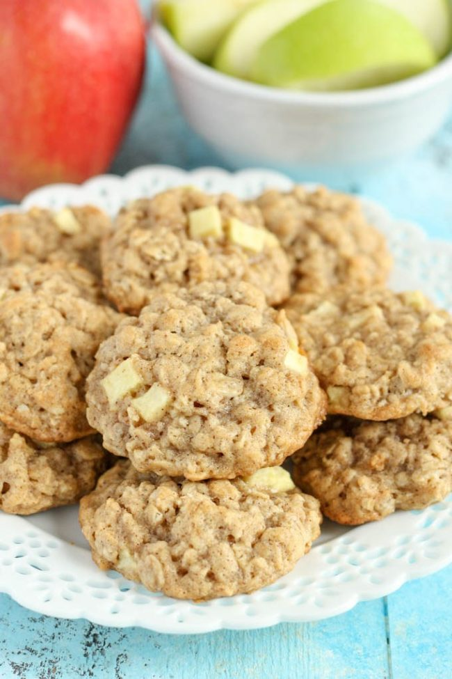 """I don't think I'd be able to stop myself from eating all these <a target=""""_blank"""" href=""""http://www.livewellbakeoften.com/2015/09/24/apple-oatmeal-cookies/"""">apple oatmeal cookies</a> in one sitting."""