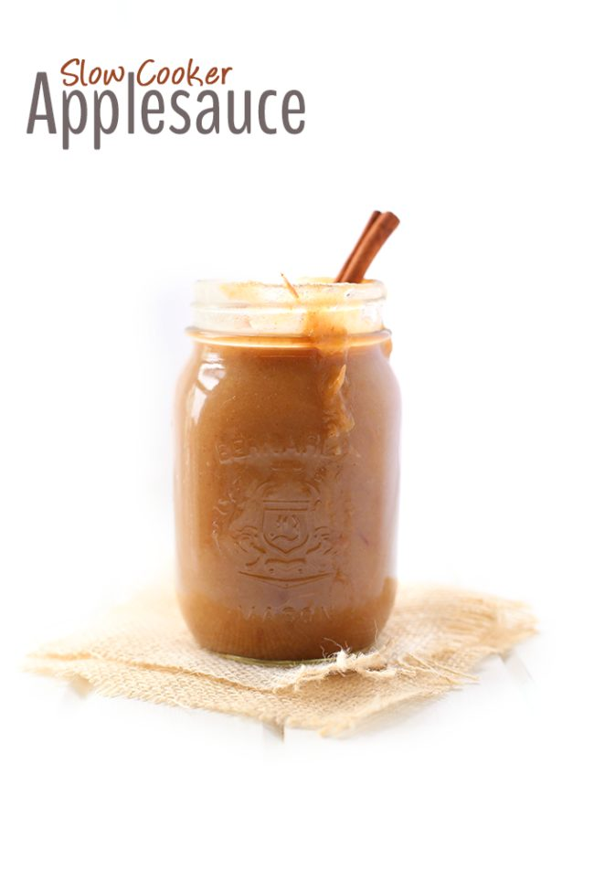 """<a target=""""_blank"""" href=""""http://www.thehealthymaven.com/2015/09/slow-cooker-applesauce-recipe.html"""">Slow-cooked applesauce</a> with cinnamon sticks?  Yes, please!"""