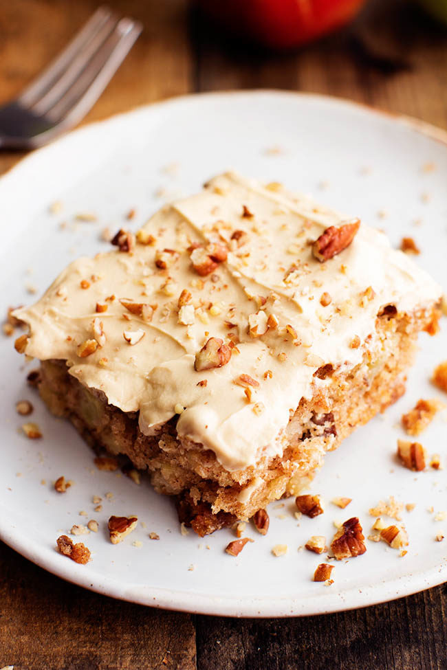 "This <a target=""_blank"" href=""http://therecipecritic.com/2015/08/apple-pecan-spice-cake-with-brown-sugar-cream-cheese-frosting/?utm_campaign=Feed%3A+TheRecipeCritic+%28The+Recipe+Critic%29&amp;utm_medium=email&amp;utm_source=feedburner"">apple pecan spice cake</a> with cream cheese frosting is enough to make me give up my diet forever."