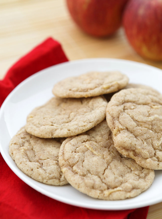 """These <a target=""""_blank"""" href=""""http://www.pipandebby.com/pip-ebby/2014/11/15/appledoodles-snickerdoodle-cookies-with-an-apple-twist.html"""">appledoodles</a> give a delectable twist to classic snickerdoodles."""