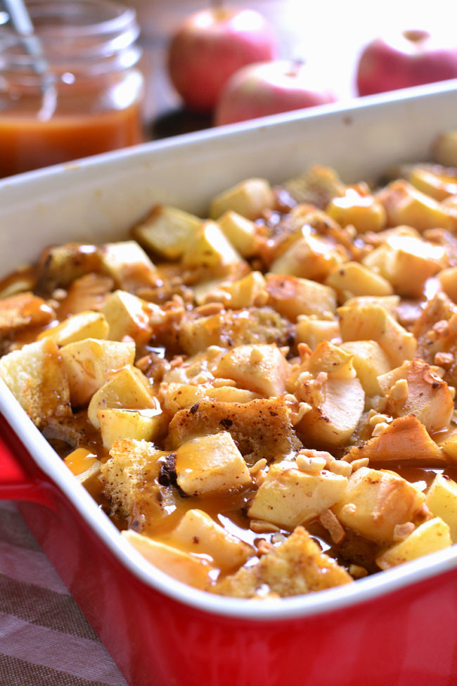 """There is nothing about this <a target=""""_blank"""" href=""""http://www.lemontreedwelling.com/2016/08/caramel-apple-french-toast-casserole.html"""">caramel apple French toast casserole</a> that doesn't scream deliciousness."""