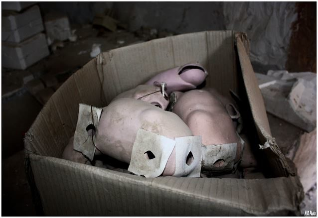 And of course, it was inevitable that he would run into dismembered dolls.