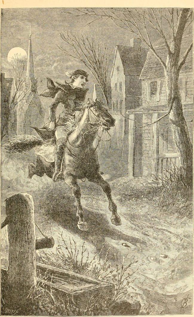 Paul Revere's midnight ride.