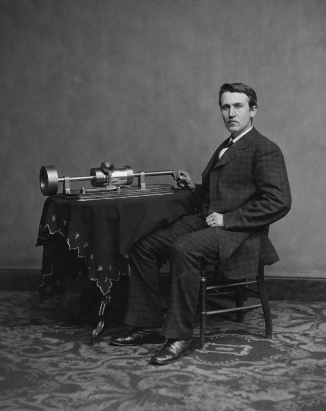 Edison created the lightbulb.