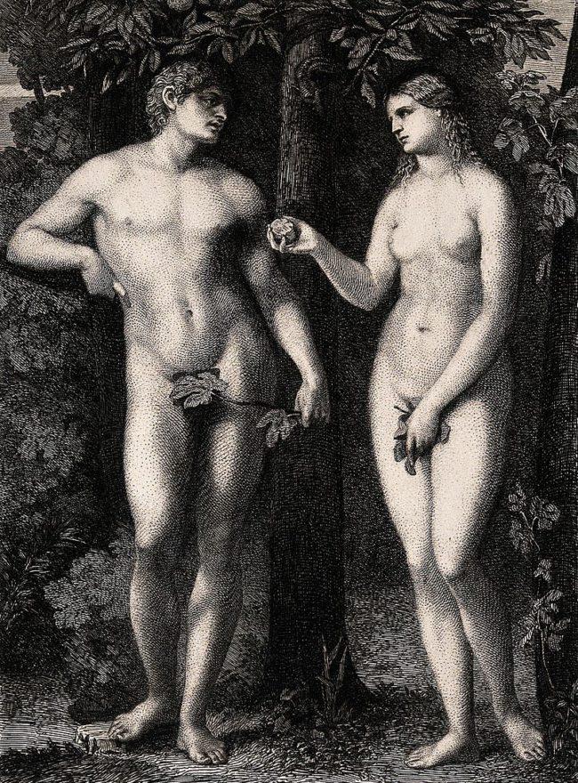 Eve took a bite of an apple in the Garden of Eden.