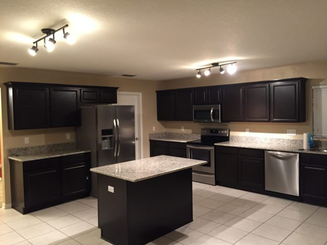 After reassembling the cabinets, this kitchen was almost unrecognizable.