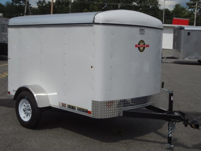 He purchased this cargo trailer for relatively cheap.