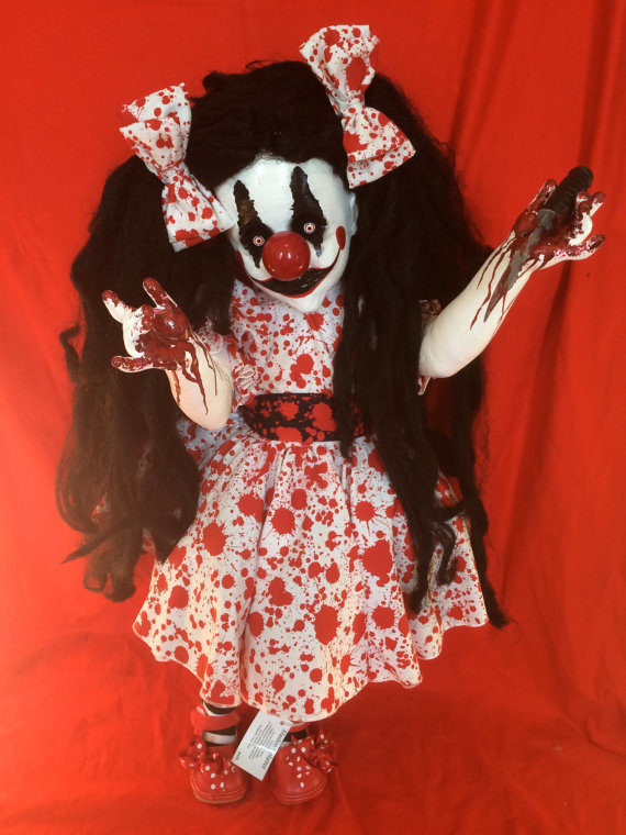 "How would you ever sleep with this horrifying <a target=""_blank"" href=""https://www.etsy.com/listing/221086511/slashin-splatter?ref=unav_listing-other"">clown doll</a> in your house?"