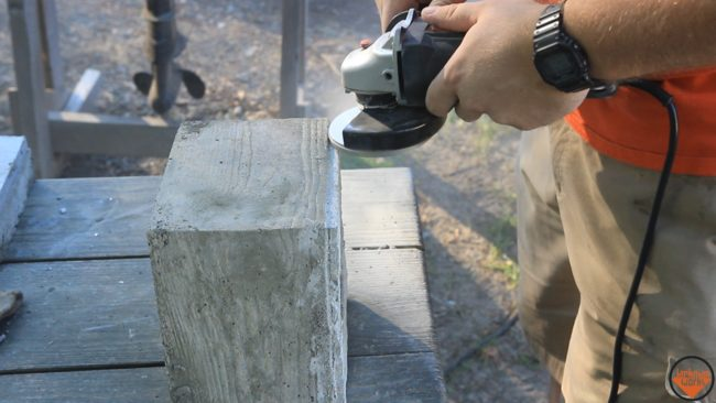 After that dried, he used a grinding tool to refine the shape.