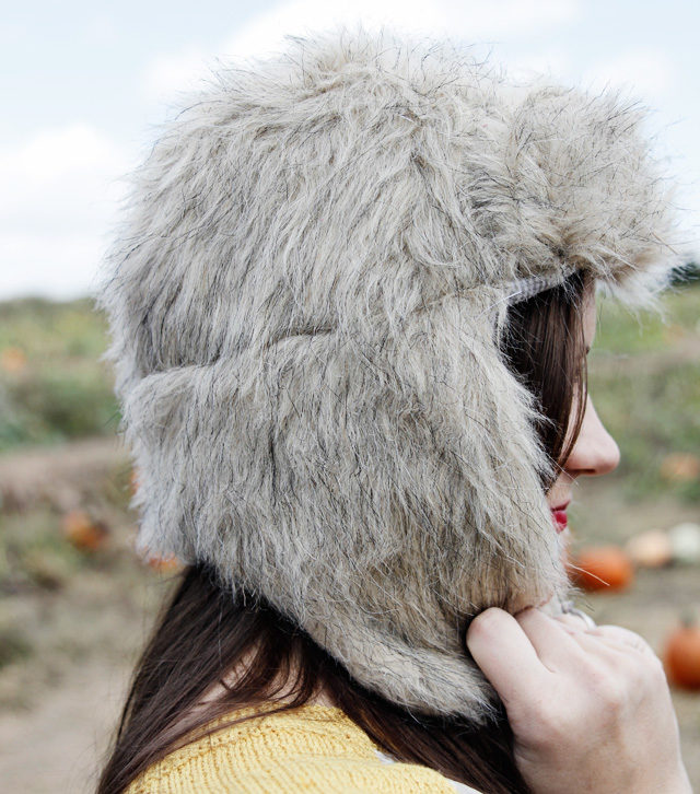 "No animals were harmed in the making of this epic <a href=""http://seekatesew.com/faux-fur-trapper-hat-free-pattern/"" target=""_blank"">faux fur hat</a>."