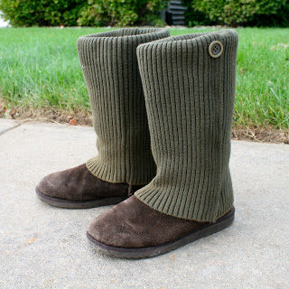 "Stay on trend without breaking the bank by upcycling an old sweater to make a pair of <a href=""http://laviediy.blogspot.com/2012/09/diy-no-sew-sweater-boots.html"" target=""_blank"">sweater boots</a>."