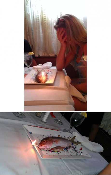 Something about this birthday cake smells pretty fishy to me.