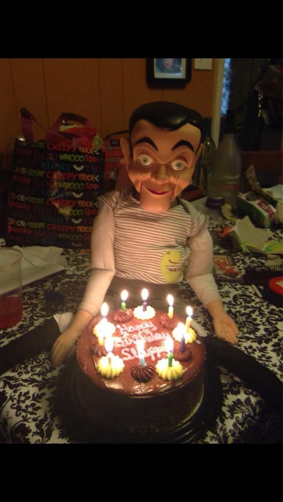 I don't want to be around when this dummy blows out his birthday candles.