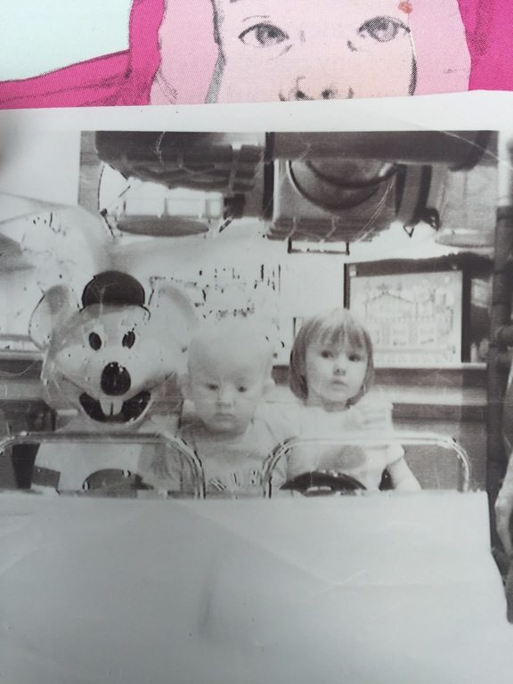 I always love a Chuck E. Cheese birthday, but who invited the creepy doll child?