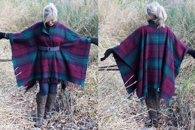 "Transform your favorite wool blanket into a <a href=""http://www.ehow.com/ehow-crafts/blog/wrap-up-in-style-with-this-diy-wool-blanket-coat/"" target=""_blank"">fashionable coat</a>."