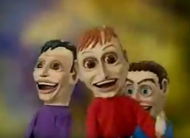 "The puppets used in the Australian kids' show ""The Wiggles"" look like they want to eat your soul."