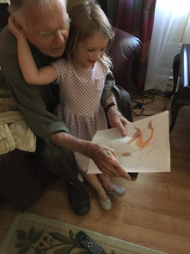 The kind little girl and her mom now pay their new friend weekly visits. He's become part of their family and they're even spending Thanksgiving with Mr. Dan this year!