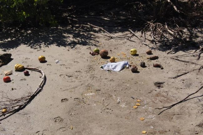 Nearby, more fruit and remnants of the sacrifice were discovered.