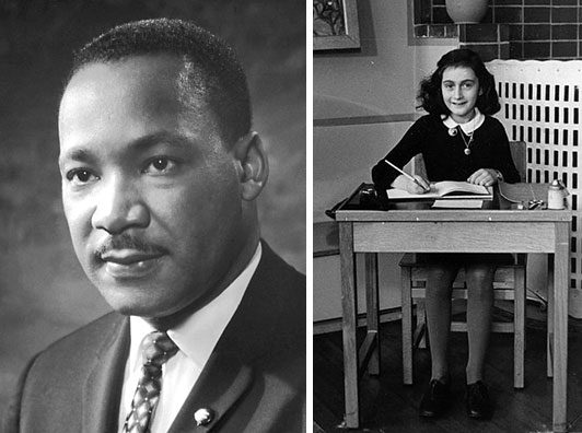 Anne Frank was born in 1929, the same year as Martin Luther King Jr. If they were still alive today, they'd be 87 years old.