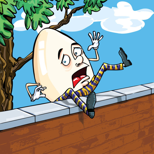 "The nursery rhyme ""Humpty Dumpty"" never says that he's an egg. Go ahead, sing it!"