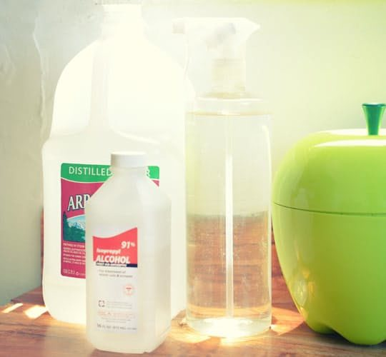 Create a simple electronics cleaner with distilled water and isopropyl alcohol.