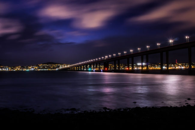 In Dundee, Scotland, the nightlife paired with the sky is a seriously beautiful sight.