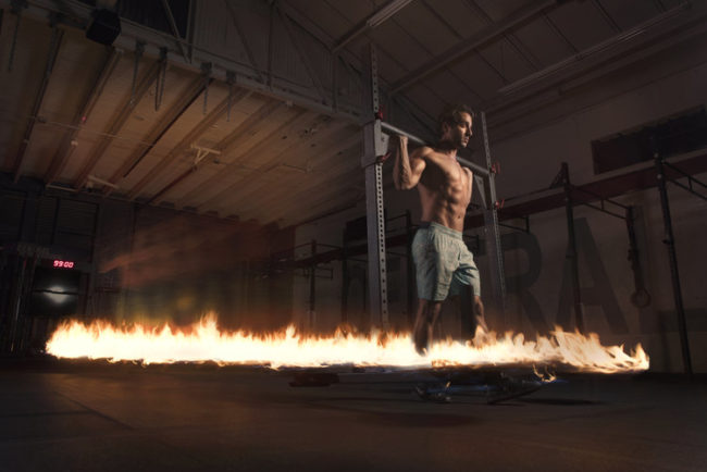 Each fire trail is a unique display of motion and athleticism. If going to the gym looked like this, working out would be a lot more exciting!