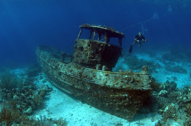 Some shipwrecks are underwater for decades or even centuries before they are discovered.