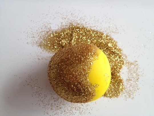Pick up any post-crafting glitter using a ball of Play-Doh.
