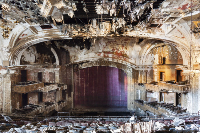 The Adams Theatre in Newark, New Jersey, opened in 1912 and was used for theatrical productions and movies.  It closed in 1986 because of a 400 percent increase in its interest rate, and hasn't reopened since.