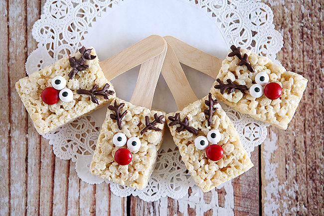 "Good luck saving a <a href=""http://www.thirtyhandmadedays.com/reindeer-rice-krispies/"" target=""_blank"">reindeer Rice Krispies treat</a> for Santa! The kids will devour them immediately."