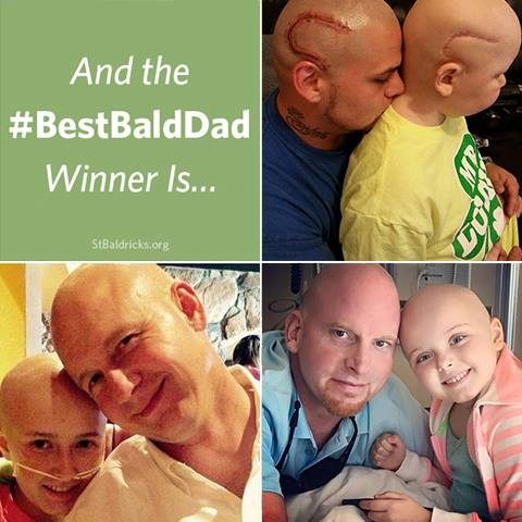 "Josh even won the #BestBaldDad competition from the <a href=""https://www.stbaldricks.org/be-a-shavee?gclid=Cj0KEQiA4JnCBRDQ5be3nKCPhpwBEiQAjwN1bk_Z4KNq0qUUDy6RpQFY2ZlGaLbptoKyQRQxGiLWdx4aArXb8P8HAQ"" target=""_blank"">St. Baldrick's Foundation</a>, which supports families experiencing childhood cancer."