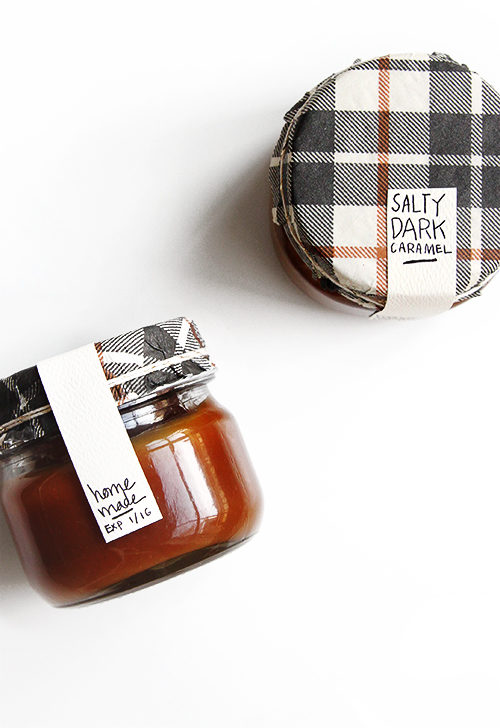 """Your friends and family won't be salty if you give them their very own <a href=""""http://www.thefauxmartha.com/2015/12/10/edible-gift-guide/"""" target=""""_blank"""">jar of homemade caramel</a> goodness."""