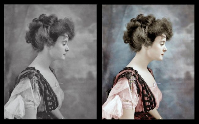 His colorization process can take between 90 and 300 minutes, and sometimes even longer.