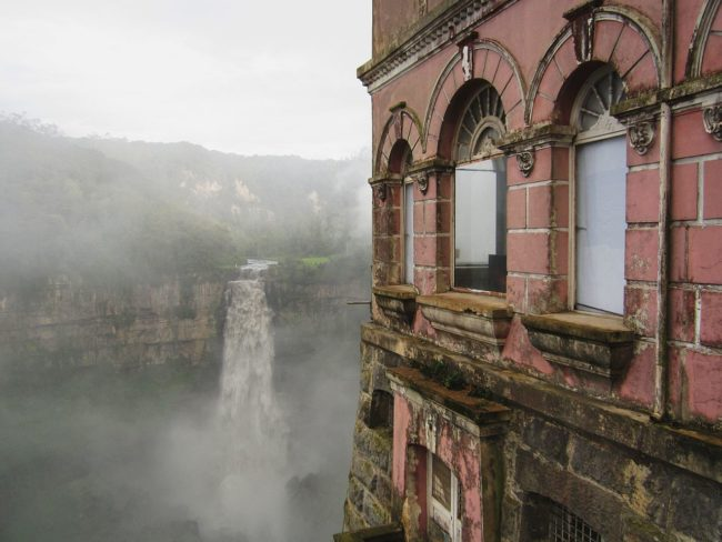 Not only was the building itself beautiful, but the stunning Tequendama Falls could be viewed through almost any window.