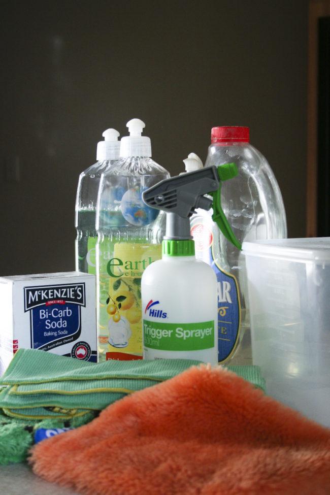Arm your bathroom with a handy spritz.