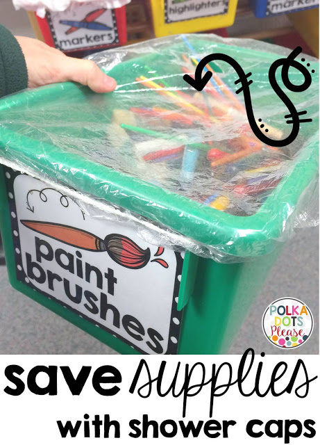 Whether you're a teacher or a parent (or both), keep your children's art supplies covered with a cap to avoid a huge mess.