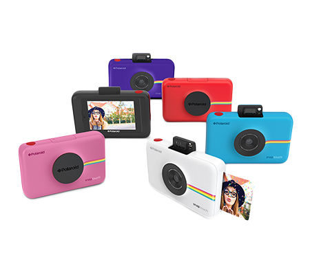 """Remember <a href=""""http://www.polaroid.com/products/polaroid-snap-touch-camera"""" target=""""_blank"""">Polaroid cameras</a>? This modern-day version has updated features that include an LCD touch screen, bluetooth capability, and a """"selfie mirror."""""""