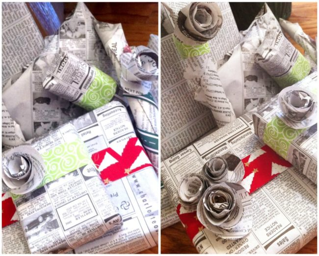 Wrap your loved ones' gifts in newspaper.