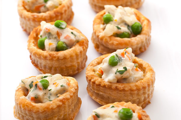 """Nothing says home cooking like <a href=""""http://www.chowhound.com/recipes/chicken-pot-pie-bites-30554"""" target=""""_blank"""">chicken pot pie bites</a>."""