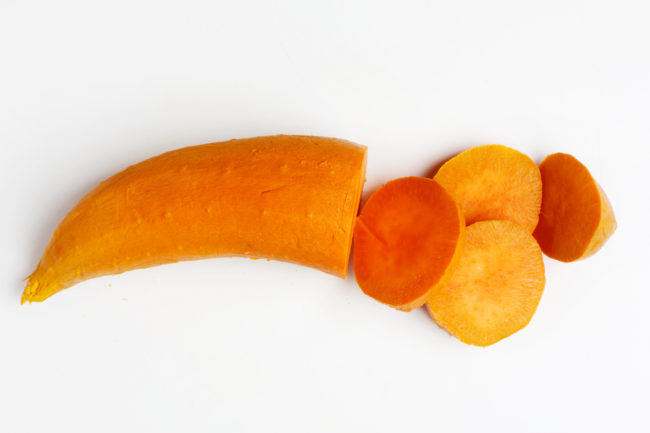 """Sweet potatoes have long been a favorite food of those seeking to lose weight. Along with being naturally sweet and high in fiber, the tubers are known to help regulate <a href=""""http://www.popsugar.com/fitness/Sweet-Potatoes-Weight-Loss-25315846"""" target=""""_blank"""">blood sugar</a>."""