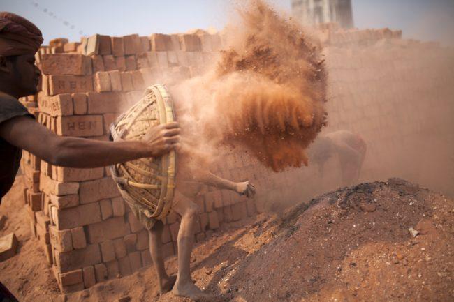 Brick makers in Bangladesh