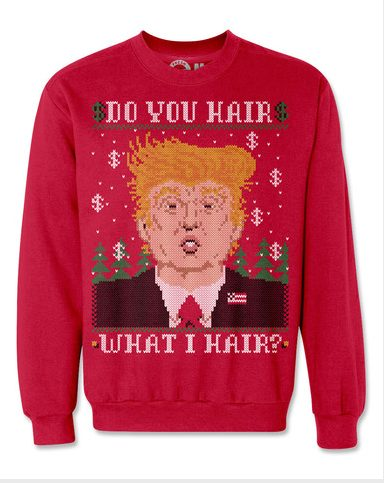 Because there's nothing uglier than bringing politics to a harmless Christmas party.