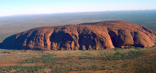 "It might be hard to believe but over <a href=""http://uluru-australia.com/about-uluru/uluru-facts/"" target=""_blank"">600 million years ago</a>, the sandstone of Uluru was buried under the sea. Today the formation towers over 1,100 feet above sea level."