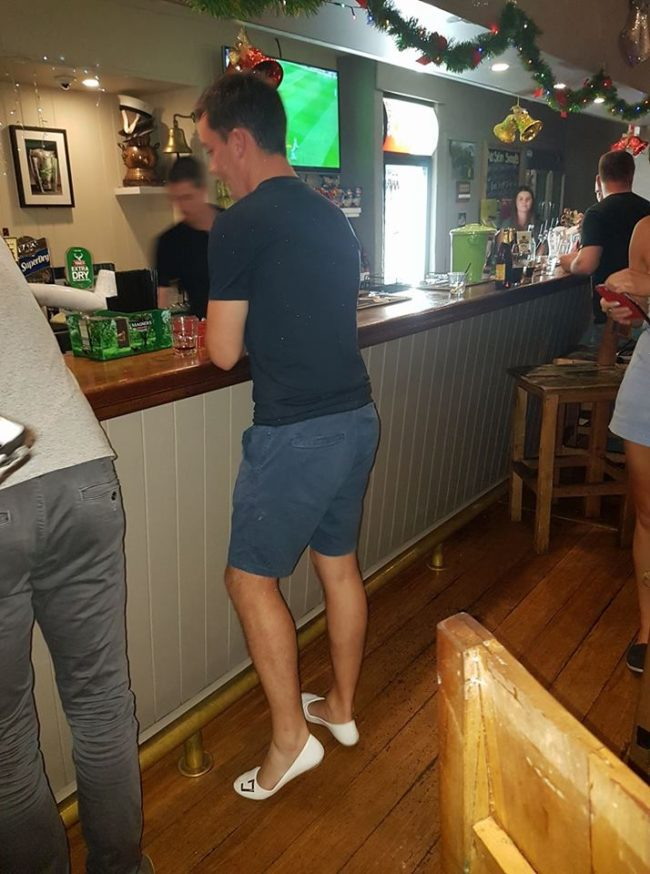 "<a href=""https://www.facebook.com/AnSibinPerth/"" target=""_blank"">An Sibin Irish Pub</a> posted this picture of Brannigan in his brand-new shoes. I don't know about you, but I think he looks absolutely fabulous!"